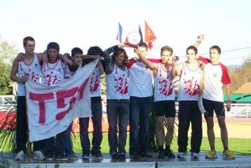 L'équipe Minimes-Cadets du TSA championne de France interclubs 2008 à Castres