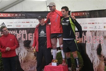 Maxime Durand vainqueur du trail court des Templiers 2010