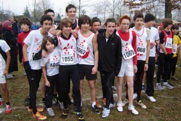 Les minimes au départ des championnats Midi-Pyrénées de cross 2011 à Castres