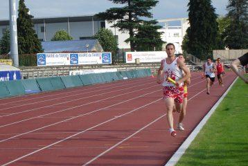 Bruno Bernard sur 4x400m au 1er tour des Interclubs 2011 à Tarbes