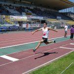 Jean Monnier au triple saut du challenge Équip'Athlé estival 2011 à Albi