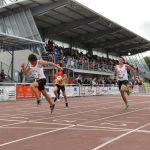 Baptiste Barthès et Cédric Boulet sur 100m au Meeting International de Castres 2011