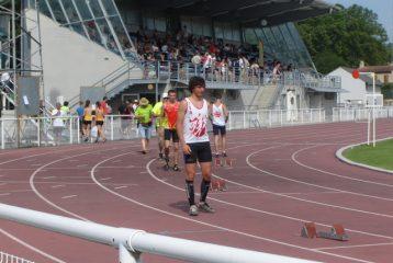 Baptiste Barthès aux régionaux sur piste 2012 à Castres