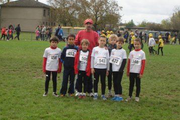 Les jeunes athlètes du TSA au cross Jean Vidal 2012 à Lescure d'Albigeois