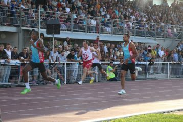 Stéphane Motheau sur 100m lors du Meeting de Castres 2014