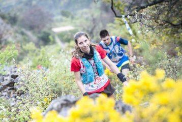 Julie Latger au trail de la Drôme 2015