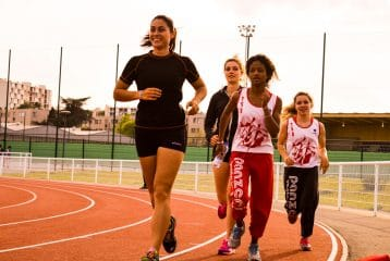 Relais 4x100m TSA au Meeting de Colomiers 2015