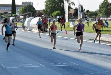 Sarah Teysseyre sur 100m au Meeting de Montauban 2015