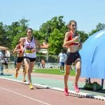 Emma Jougla et Alexia Vaissette sur 1500m aux Championnats Midi-Pyrénées 2015 à Castres