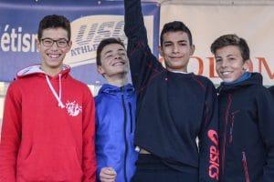 Les minimes du TSA sont champions Midi-Pyrenées 2016 de cross à Colomiers