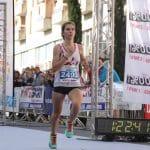 Julie Latger à l'arrivée du semi-marathon de Montauban 2016
