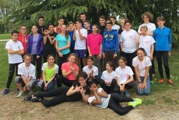 Groupe de stage Castres Athlétisme 2016