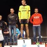Benoit Galand sur le podium du 27km du Trail de la Vallee des Lacs 2016 Gerardmer