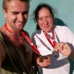 Thomas Loubat-Molinier et Sandrine Gardes médaillés aux Championnats de France Espoirs-Nationaux 2016 à Aubagne