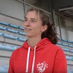 Julie LATGER en interview à Castres le 17 septembre avant son match hors-stade international 2016