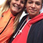 Clara Chamayou avec l'athlète olympique Émilie Menuet au challenge national des ligues de marche 2016 à Saran