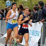 Julie Latger sur 10km au match international FRA-ITA 2016 à Rennes