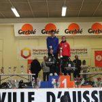 Julie Latger sur le podium de l'Aussillonnaise 2016 à Aussillon