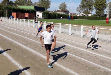 Samuel Conjungo sur le sprint au meeting poussins 2016 à Lavaur
