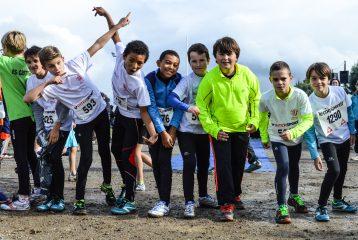 Les benjamins du Castres Athlétisme au cross Jean-Vidal 2016 à Lescure-d'Albigeois