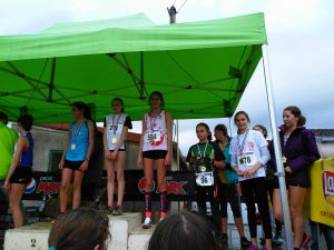 Caroline Laroche 3ème minime au cross Jean-Vidal 2016 à Lescure-d'Albigeois