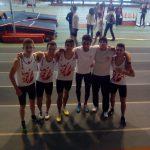 Les garçons du TSA prêts pour le 60m au meeting indoor 2016 de Bompas