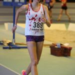 Clara Chamayou aux championnats d'Occitanie de marche en salle 2017 à Bompas