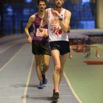 Steve Rémi aux championnats d'Occitanie de marche en salle 2017 à Bompas