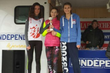Victoire par équipe des minimes filles du TSA au quart de finale des championnats de France de cross 2017 à Carcassonne