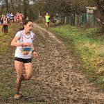 Alexia Vaissette en quête de sa qualification lors des championnats d'Occitanie de cross 2017 à Saint-Juéry