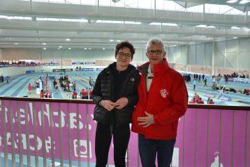 Fanny Mittou et Jean-Pierre Dardenne aux championnats de France Cadets-Juniors en salle 2017 à Nantes