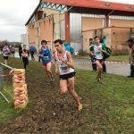 Flavien Szot allant chercher sa qualification pour les France aux championnats d'Occitanie de cross 2017 à Saint-Juéry
