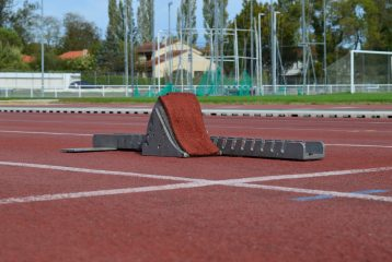 Starting-block du Castres Athlétisme au stade du Travet