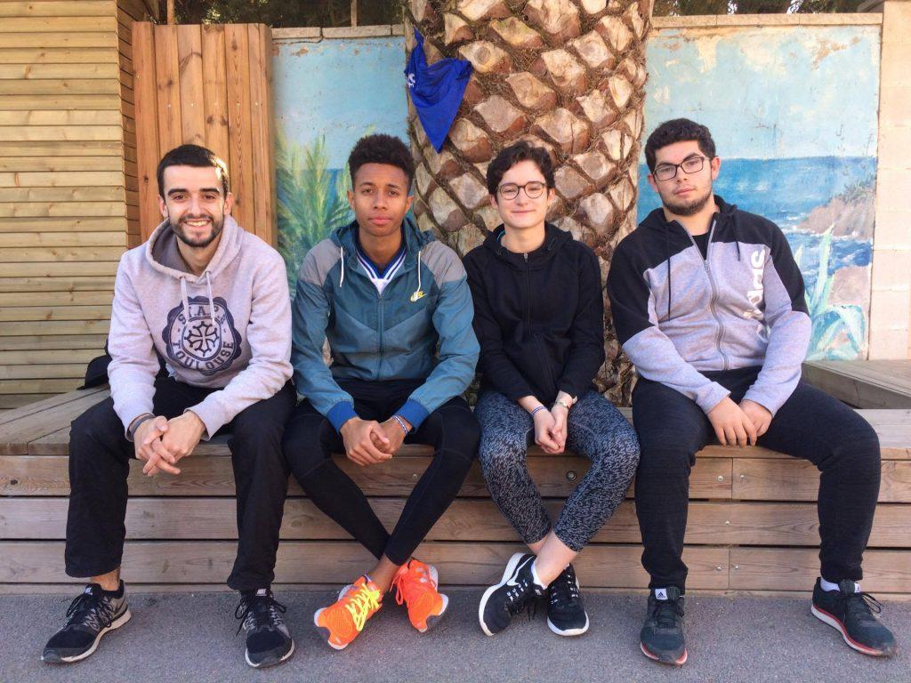 Nos 4 athlètes au stage élite d'Occitanie 2017 à Canet-en-Roussillon