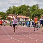 Anthony Velasco à l'arrivée du 400m du 1er tour des interclubs 2017 à Castres
