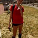 Clara Chamayou sacrée championne d'Occitanie cadette 2017 du 5000m marche à Tarbes