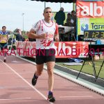 Enrico Ferré à l'arrivée du semi-marathon d'Albi 2017