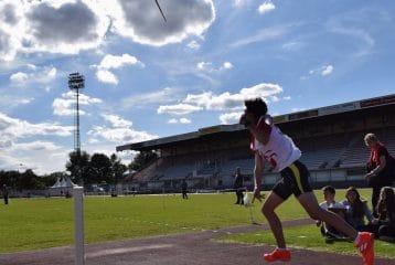 Mattis Barbié au javelot lors du challenge Équip'Athlé BE-MI 2017 à Carcassonne