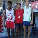 Baptiste Dieudé médaillé d'argent sur 1000m aux championnats d'Occitanie 2017 à Albi