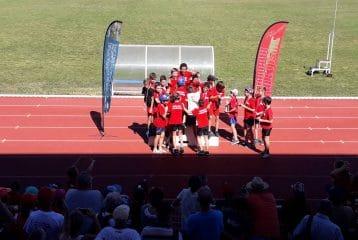 Les poussins du Castres Athlétisme champions interclubs 2017 à Carmaux