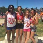 Les minimes filles du TSA en bronze sur relais 8228 aux championnats d'Occitanie sur piste 2017 à Rodez