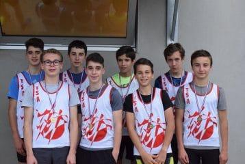 Les relais minimes du TSA médaillés aux championnats du Tarn sur piste 2017 à Castres