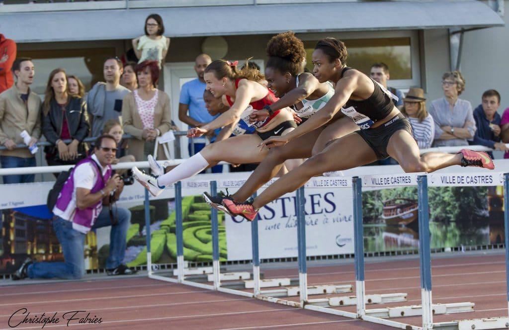 Le 100m haies du meeting de Castres 2017 remporté par Laura Valette