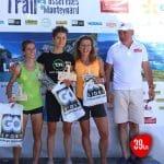Julie Latger sur le podium du 39km du trail des Passerelles du Monteynard 2017