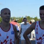 Patrice Vieu et Jean-Baptiste Grand après le 800m au meeting de l'Athlé 632 2017 à Tournefeuille
