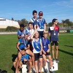 Podium du 4x1000m à la Coupe d'Occitanie des Spécialités et des Relais 2017 à Rodez