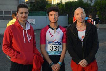 Jean-Baptiste, Antonin et Patrice à Aubagne pour les France de 10km