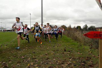 Départ de la course des benjamins au cross Jean Vidal 2017 à Lescure-d'Albigeois