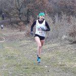 Alexia Vaissette sur la course des As féminins aux championnats du Tarn de cross 2018 à Florentin