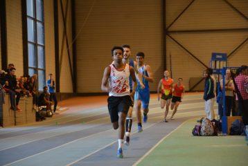 Baptiste Dieudé sur 400m au meeting indoor de Bompas 2017